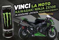 Logo Concorso '' Vinci la moto con Monster e Carrefour'' : una Kawasaki Ninja ( (16000 euro)