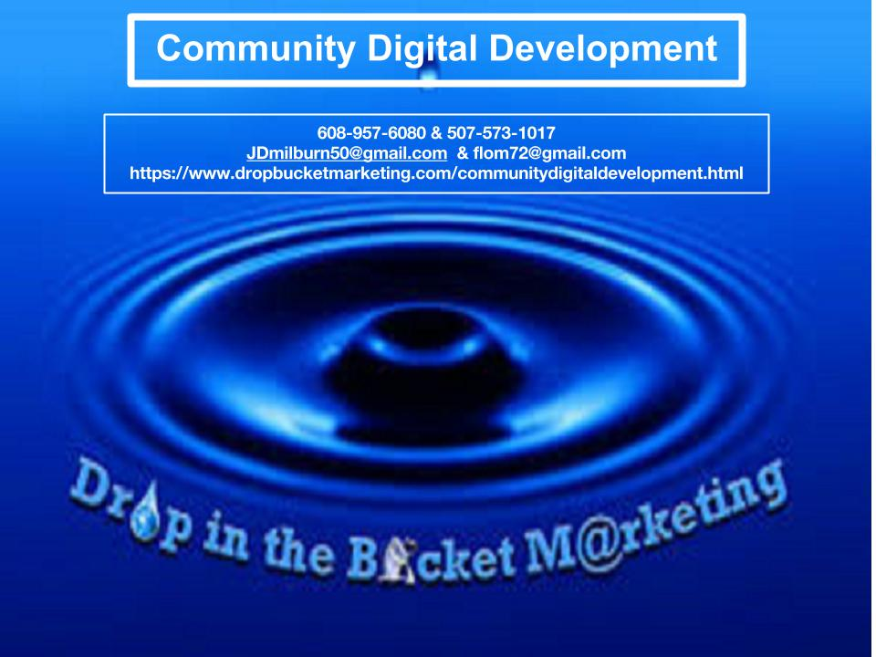 Jd Milburn Marketing Community Development Economic