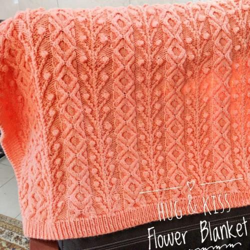 Hugs & Kisses & Flowers Baby Blanket - Free Pattern