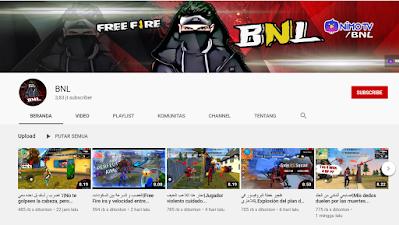 Youtuber Gaming Free Fire - BNL