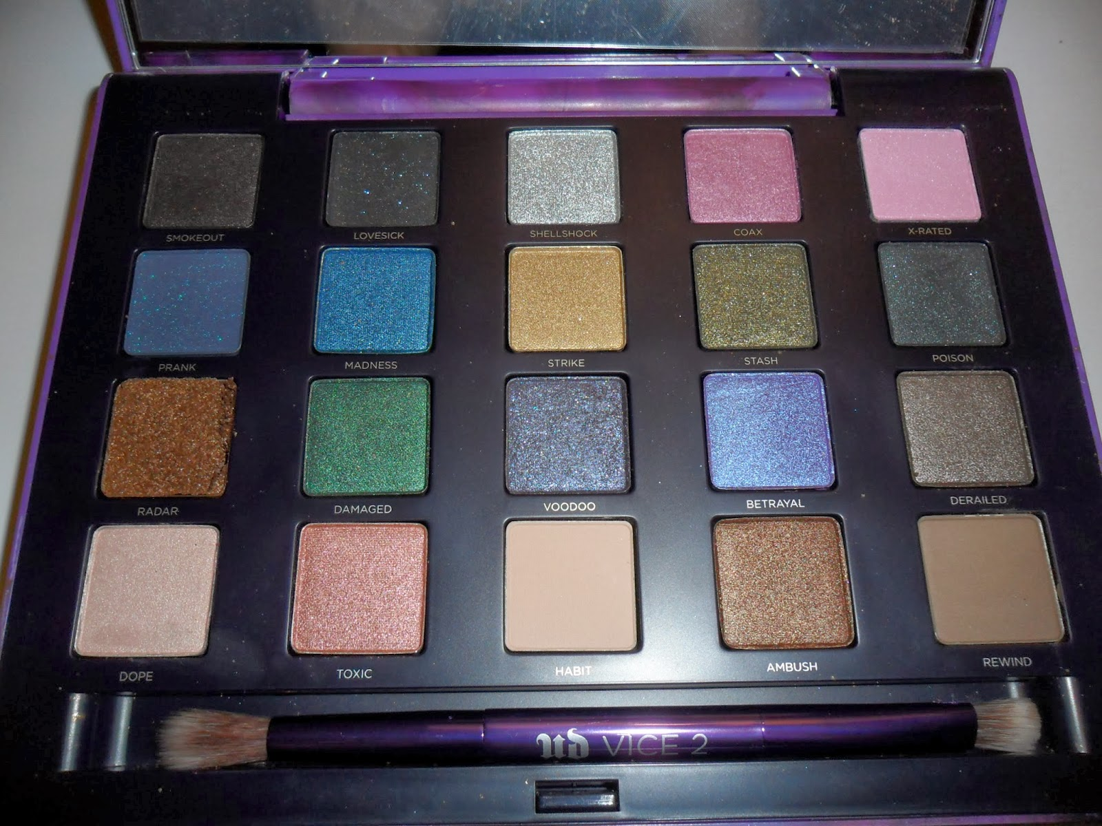 Urban Decay Vice 2 Palette (Review, Swatch, FOTD ... |Urban Decay Palette 2
