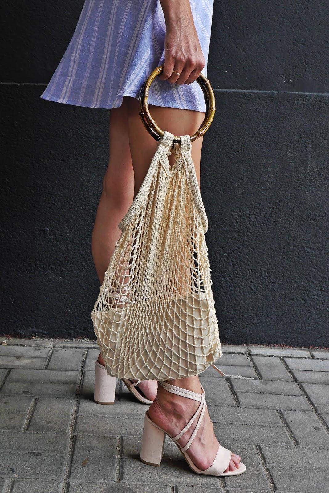 torebka siatka sandały beżowe bonprix karyn blog modowy blogerka modowa