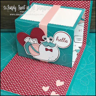 Fun pop-up gift card holder with the Snail Mail suite!