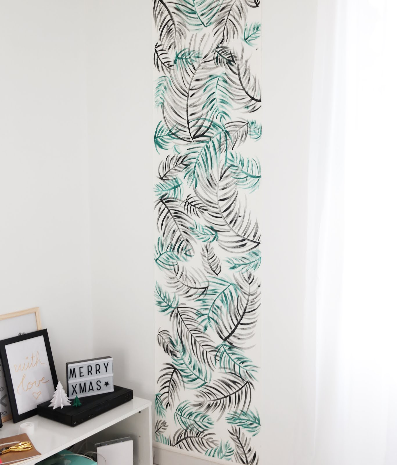 Diy deco murale tropicale shyly lovely for Tapisserie deco murale