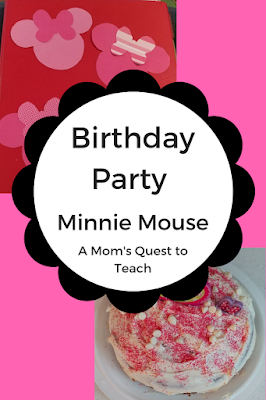 Minnie Mouse-themed cake