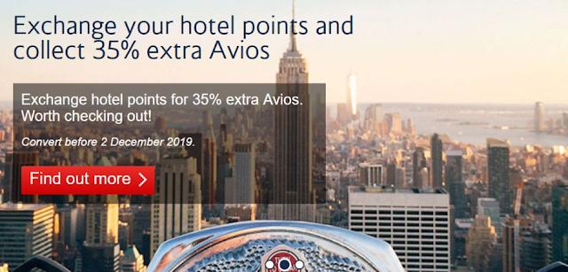英國航空(British Airways)夥伴酒店積分轉換Avios計劃再次開啟,可額外贈送35%