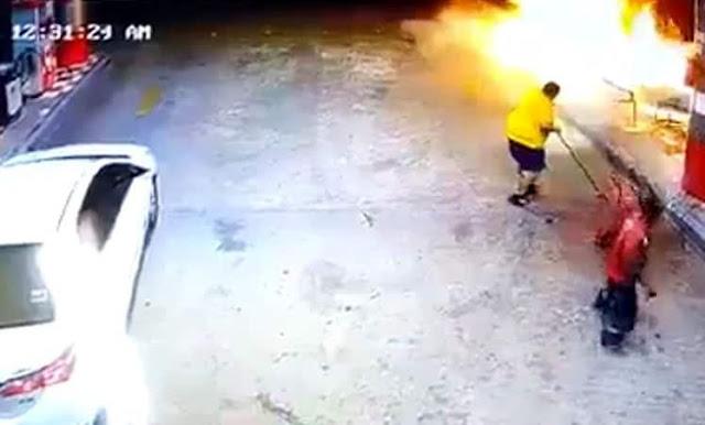 Hero prevents Fire disaster at Petrol station in Saudi Arabia