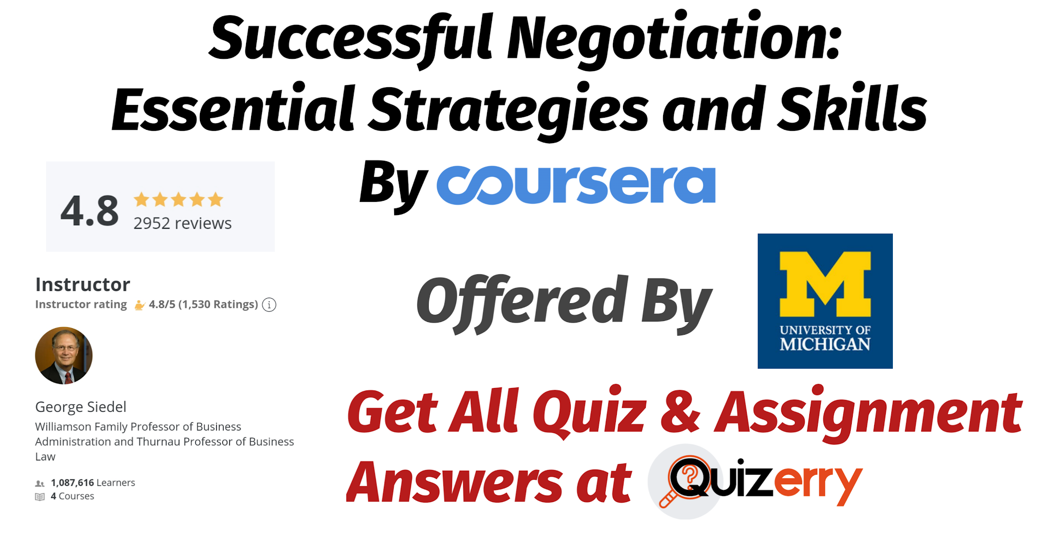 Successful Negotiation: Essential Strategies and Skills - Coursera Final Quiz Answers