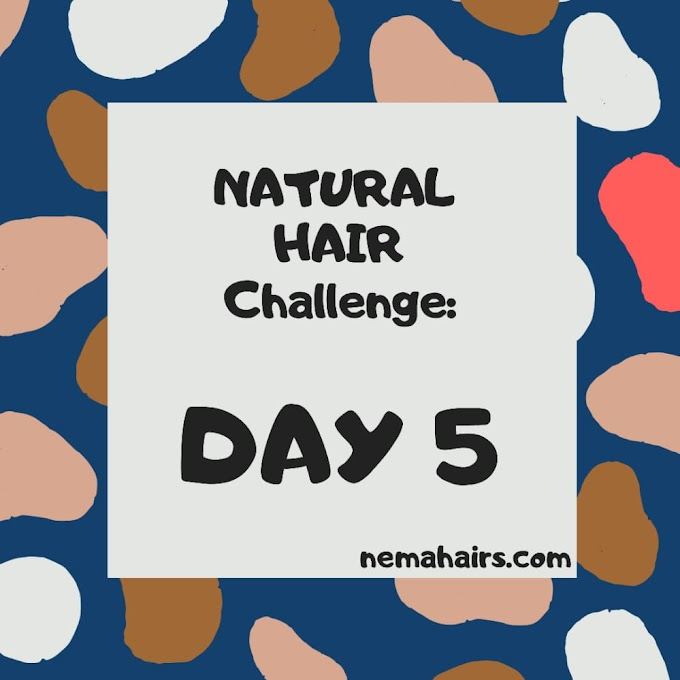 NATURAL HAIR CHALLENGE: DAY 5