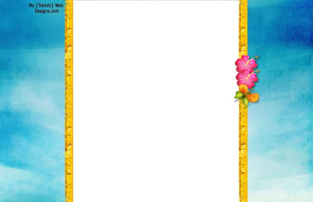 Invitaciones, etiquetas y toppers de Fiesta Hawaiana para imprimir ...