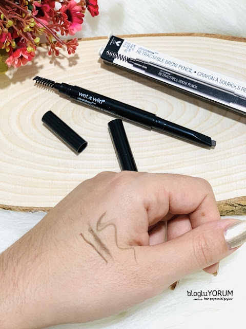 wet n wild ultimate retractable brow pencil kaş kalemi incelemesi 3