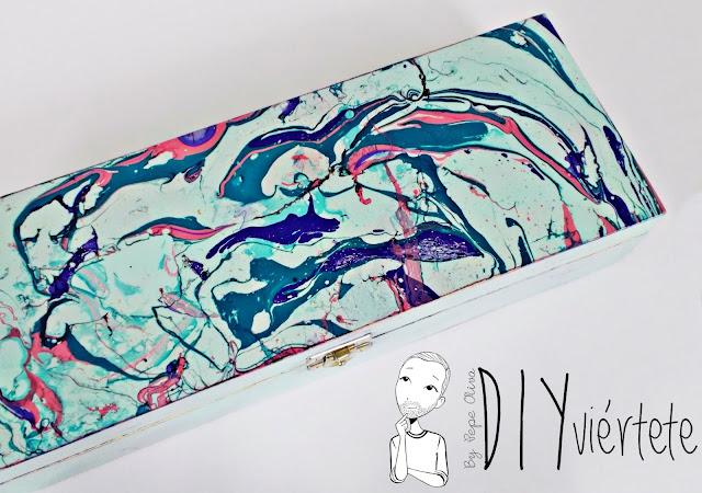 DIY-caja-madera-manualidades-marmoleado-marmolado-pinturas-Opitec-Handbox-mint-colores-vintage-13
