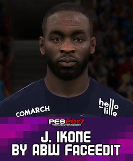 PES 2017 Faces Nanitamo Jonathan Ikoné by ABW_FaceEdit
