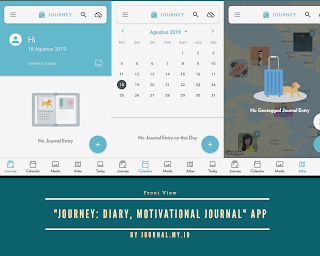 "First impression using the application ""Journey: Diary, Motivational Journal"""