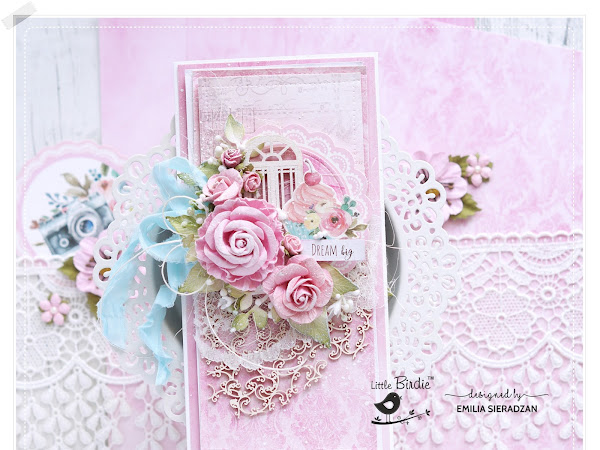 Little Birdie Card with Roses & Video Tutorial