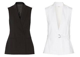 Черный и белый приталенные жилеты для невысоких женщин