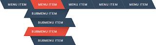 zigzag dropdown menu