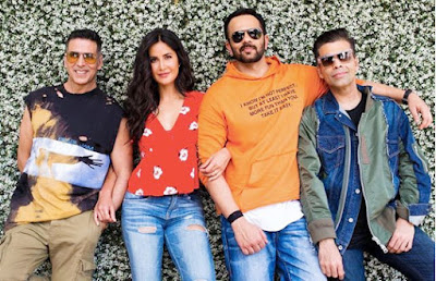 The last films of the pair of Katrina Kaif and Akshay Kumar were Namastey London (2007), Welcome (2007) and Singh Is King (2008). But after nine years they are both going to cast in Rohit Shetty's upcoming film Sooryavanshi (2020).  The film will be produced by Dharma Productions. Rohit Shetty has shared the picture in which Akshay kumar, Katrina Kaif, Rohit Shetty and Karan Johar are. As the guest characters, Ajay Devgan and Ranveer Singh will be seen in the film. It is the first film of Katrina Kaif with Dharma Productions. Besides, this is the first time, hit director Rohit Shetty, Akshay Kumar and Katrina Kaif together are going to work. Actually, Katrina Kaif had danced in 'Agneepath' (2012) produced by Dharma Productions. The film 'Sooryavanshi' will be released in 2020, Eid-Ul-Fitr though 'Inshallah' acted by Alia Bhatt and Salman Khan and directed by Sanjay Leela Bhansali will also be released in the same time.