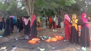 Warga Rohingya yang Terdampar di Aceh Timur Bermalam di Pulau Idaman