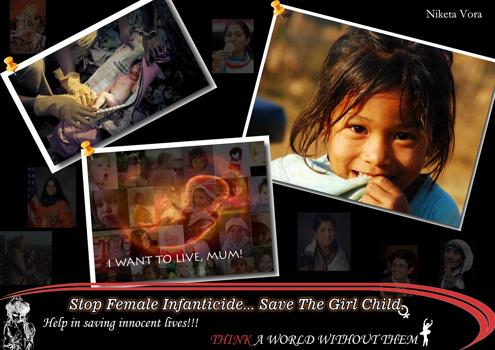 niketa s creative corner poster on female infanticide poster on female infanticide