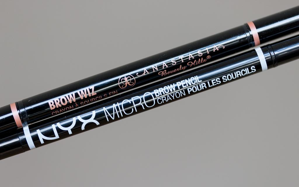 Anastasia Beverly Hills Brow Wiz vs. Nyx Micro Brow Pencil Gemeinsamkeiten Unterschiede