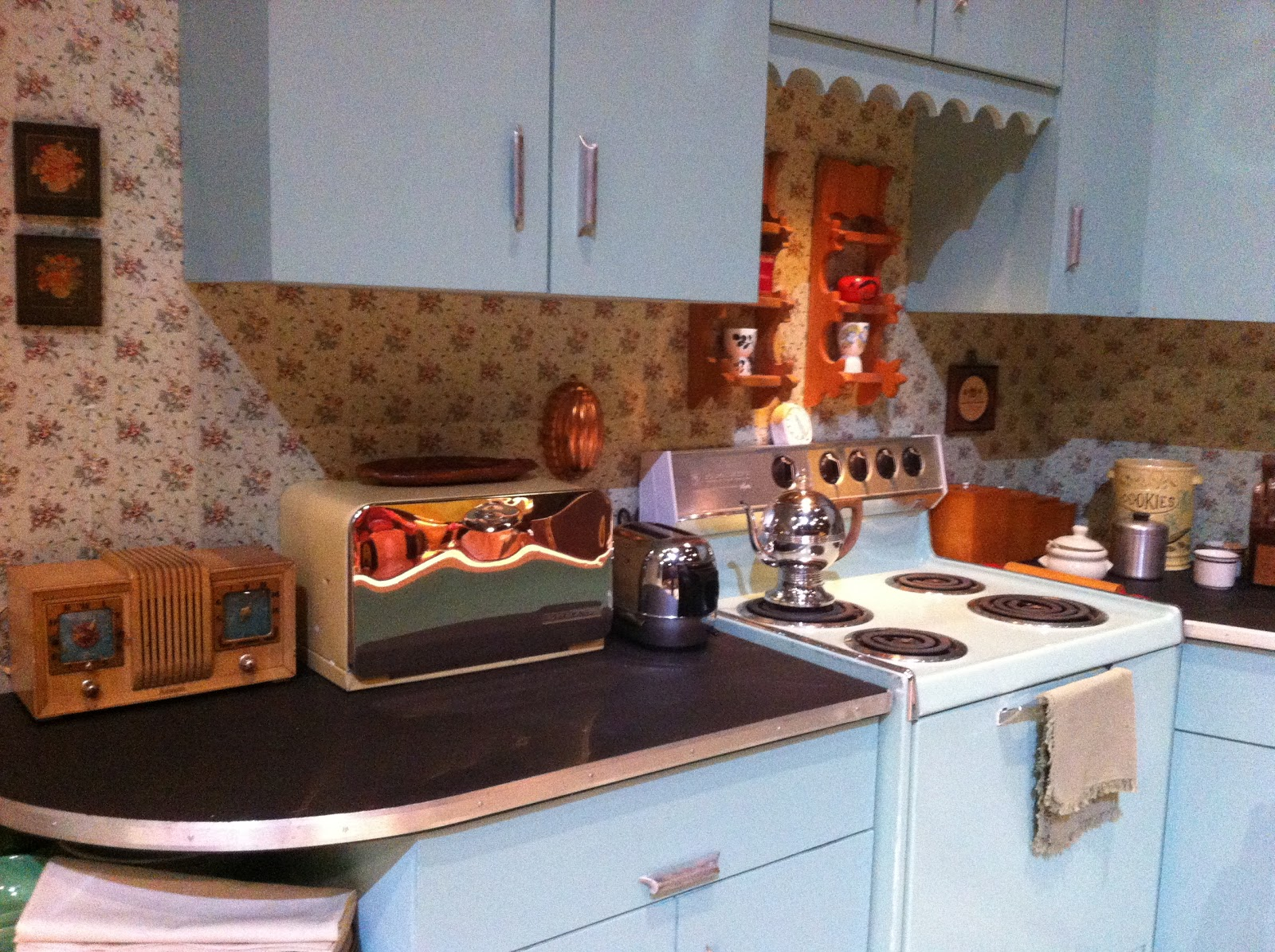 kitchen—enjoyed picking wallpaper, coffee pot, toaster,