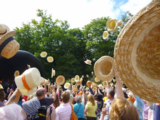 Guinness World Record of 'Largest Gathering of People Wearing Boater Hats' in Luton