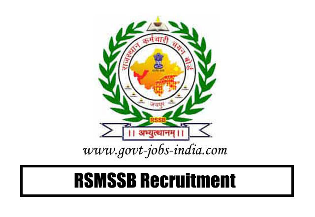 RSMSSB Junior Engineer Recruitment 2020 – 1054 Junior Engineer Vacancy – Last Date 08 July 2020