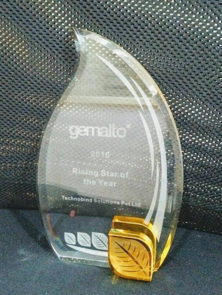TechnoBind Receives '2016 Rising Star of the Year' Award from Gemalto