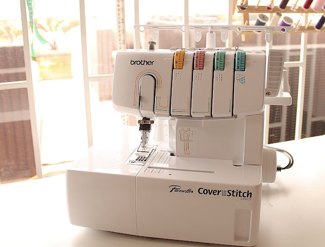 Brother 2340CV coverstitch machine review.