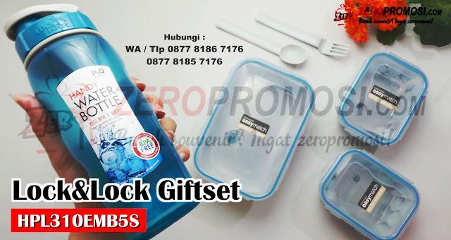 Jual Souvenir LOCK & LOCK HPL310EMB5S, Special Giftset Lunch Cetak Logo, Souvenir Lock&Lock,