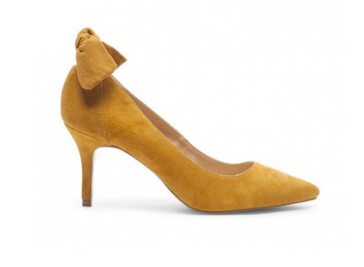 Cute and affordable shoes sole society mustard back bow pump