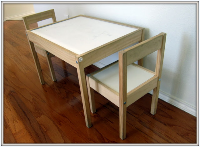 ikea kids table and chairs fuzzy feet chair gliders latt hack enjoyer of grace diy show off