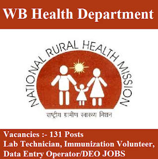 West Bengal State Health & Family Welfare Department, WB Health, DEO, Data Entry Operator, Lab Technician, 12th, West Bengal, freejobalert, Sarkari Naukri, Latest Jobs, wb health logo