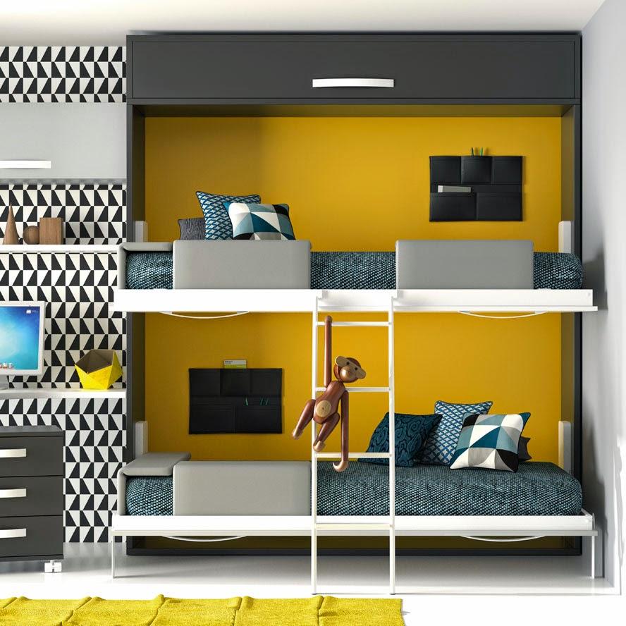 Dormitorios juveniles para dos hermanos - Dormitorios con literas para ninos ...
