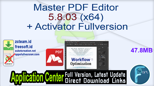 Master PDF Editor 5.8.03 (x64) + Activator Fullversion