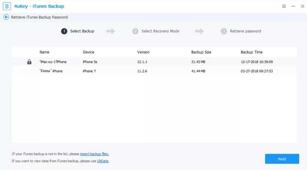 Tenorshare 4uKey iTunes Backup 5.2.4.5