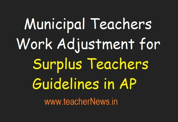 Guidelines of Municipal Teachers Work Adjustment for Surplus Teachers 2019
