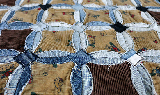 Mended Denim Circles Quilt