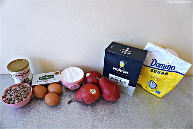 Ingredientes de la Receta de Tarta de Peras