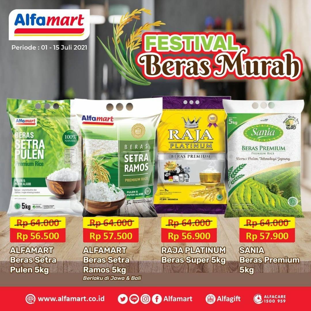 ALFAMART Promo Festival Beras Murah Periode 1 - 15 Juli 2021