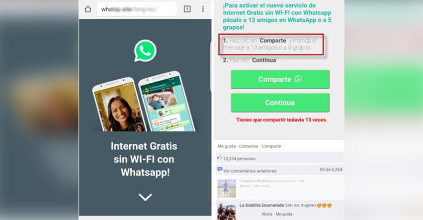 WhatsApp: Cuidado con el nuevo engaño de Internet Gratis sin Wi-Fi en tu celular, advierte ESET
