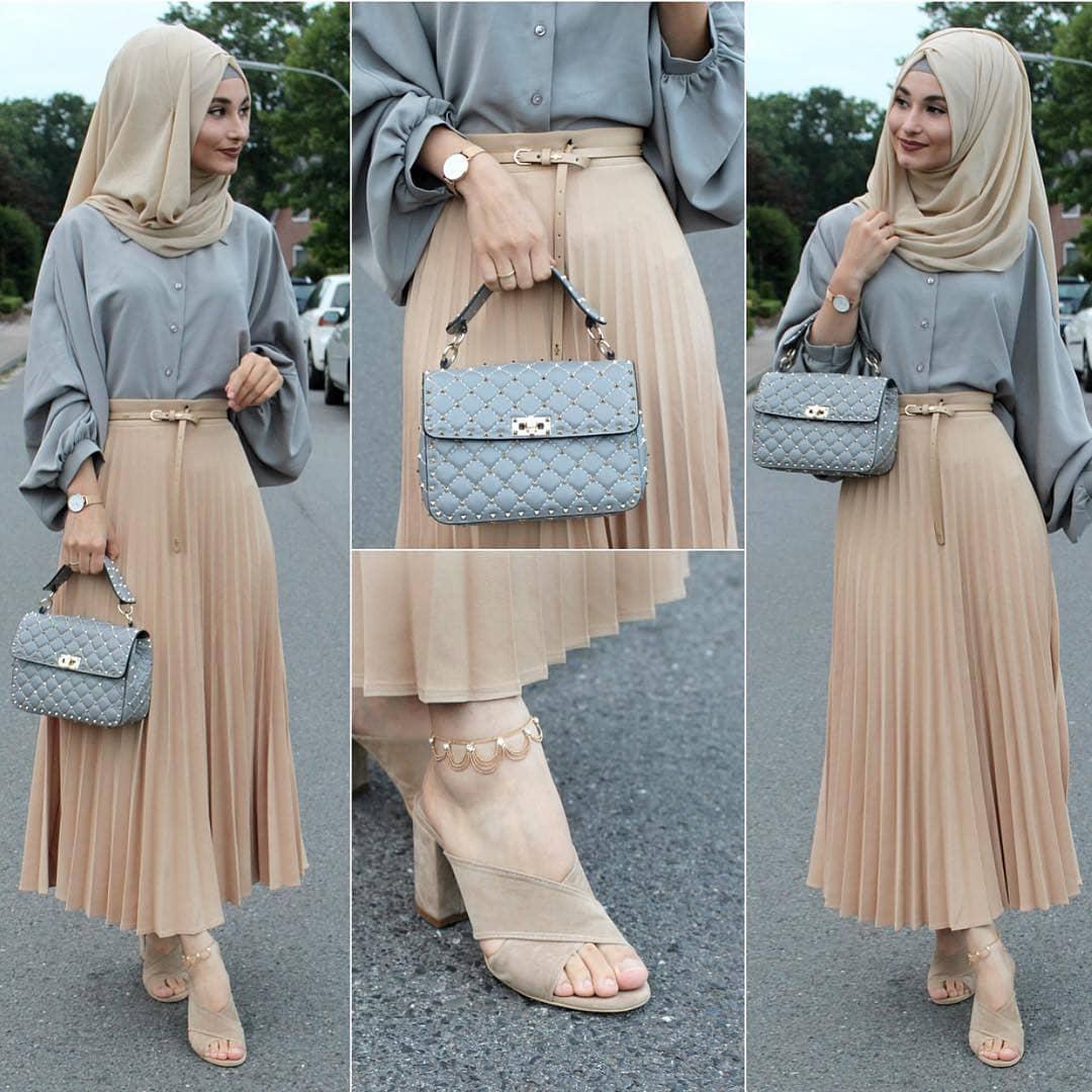 Hijab long pour jeunes filles , Style 2019