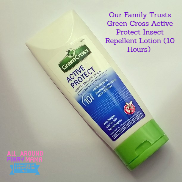 All-Around Pinay Mama, SJ Valdez, Green Cross Active Protect Insect Repellent Lotion (10 hours)