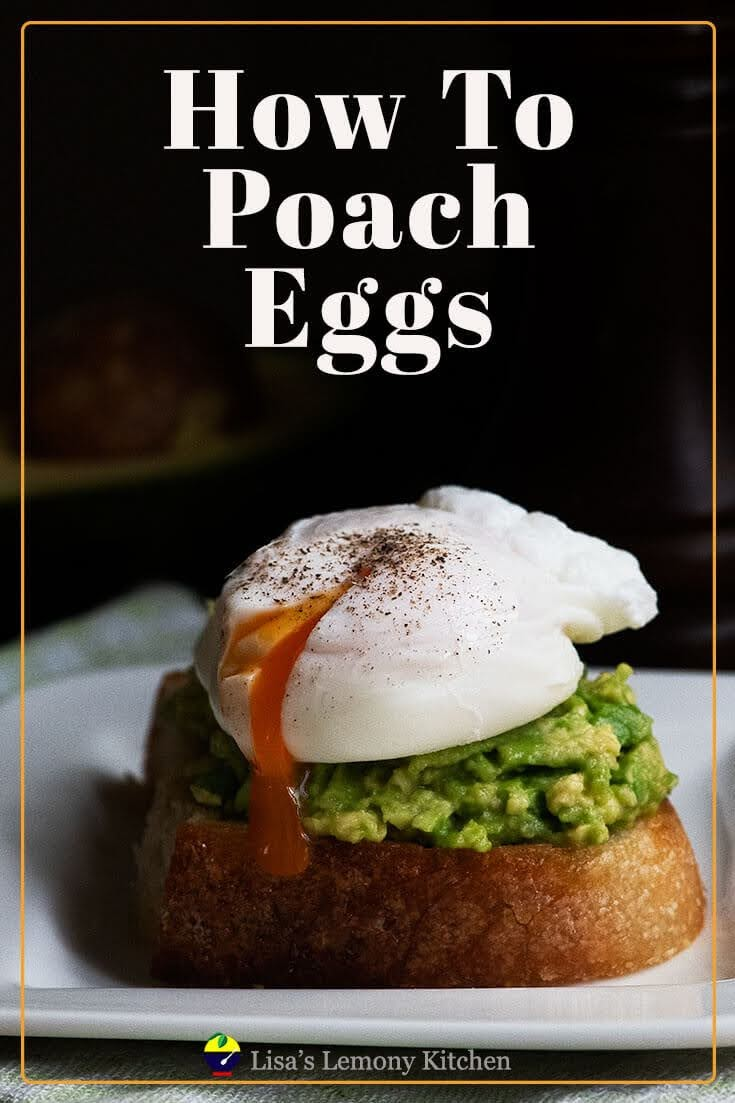 Perfectly poached eggs are delicious with mashed avocado on toast.
