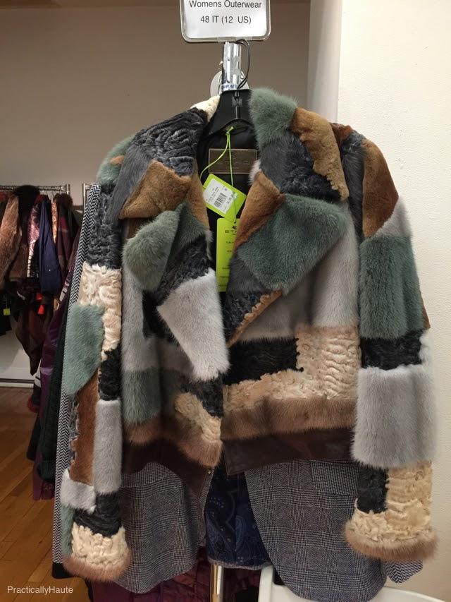 Etro sample sale fur coat
