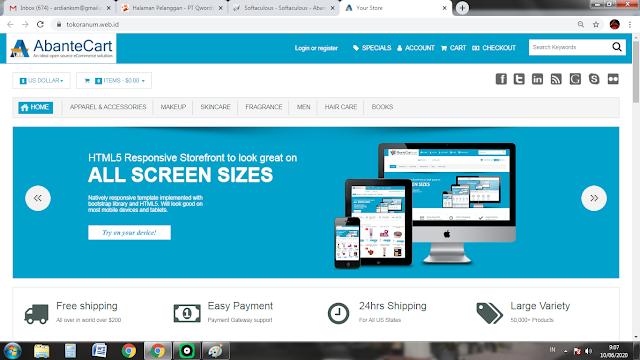 Membuat E-Commerce Dengan Biaya Kurang Dari Rp100.000 Pakai Qwords