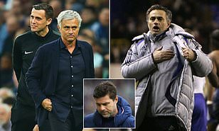 Jose Mourinho is monitoring the situation at Tottenham as he seeks a route back into management