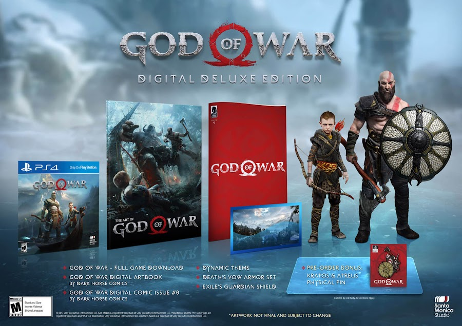 god of war ps4 digital deluxe edition