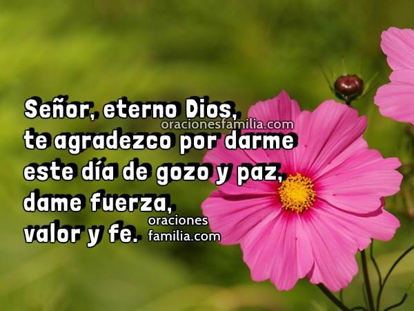 Oración de la mañana para dar Gracias a Dios por el día